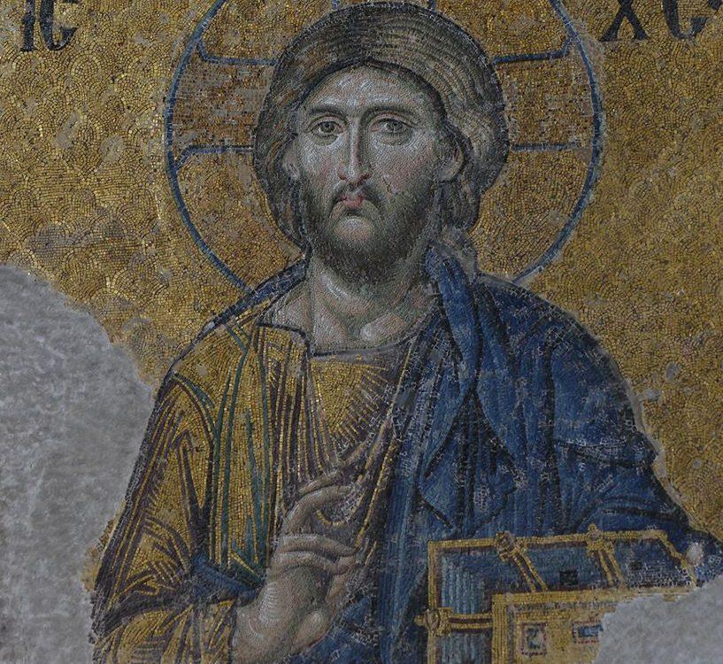 мозаїчний образ Христа Спасителя ХІІ ст. з храму Святої Софії в Константинополі
